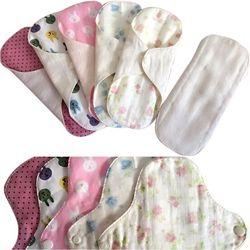 4 Pcs/lot avec un Pad Poche pour Livraison Tissu Menstruel Sanitaire Pad Réutilisable Protège-slip En Tissu Lavable D'hygiène féminine