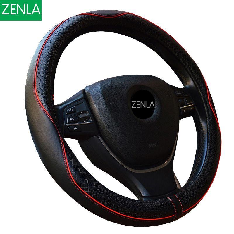 Leather Car Styling Steering Wheel Cover For Mazda 3 2 Mazda 6 Axela CX-5 CX5 CX-7 CX7 CX-9 RX8 2014 2015 2016 Auto Accessories