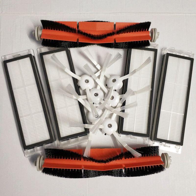 6 x brosse latérale + 4x filtre HEPA + 2x brosse principale Approprié pour xiaomi vide 2 roborock s50 xiaomi roborock xiaomi mi Robot Cadeau