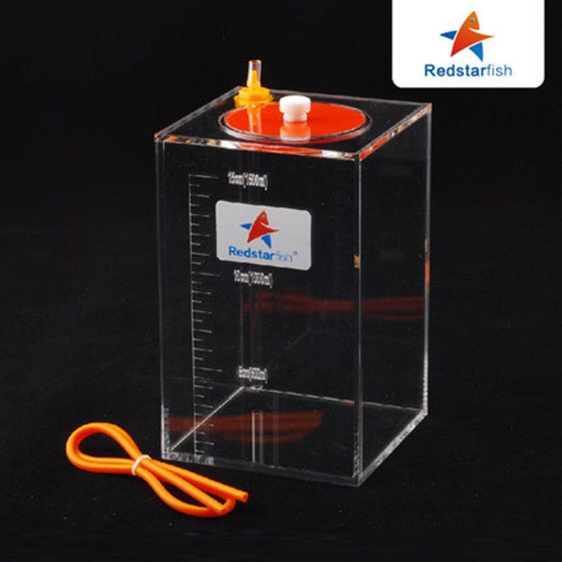 Roten Seestern Dosierung Pumpe Skala Flüssigkeit Lagerung Eimer Mit Skala 1.5L/2.5L/4.5L Liter Hohe Qualität Acryl gemacht riff
