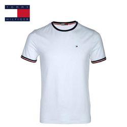 TOMMY HILFIGER 5 couleurs couleur Pure T-shirts D'été Tops T-shirts t-shirt Hommes o-cou à manches courtes De Mode T-shirts