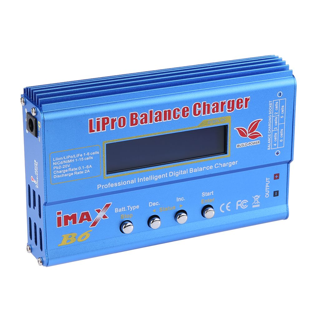 Newest Build-Power Battery Charger 80W iMAX B6 Lipro <font><b>NiMh</b></font> Li-ion Ni-Cd RC lithium Battery Balance Digital Charger Discharger