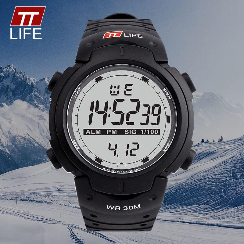 Ttlife hombres Militar LED Relojes digitales moda 30 m deportes impermeable reloj informal al aire libre masculino reloj relojes Relogio Masculino