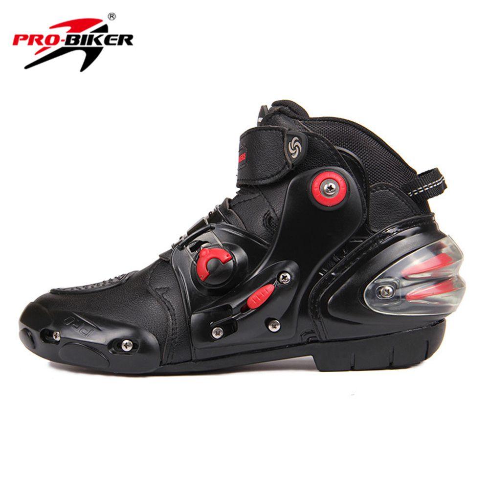 HOT! PRO-BIKER SPEED BIKERS Black Men Moto Shoes Motorcycle Boots Moto Motocross Boots Breathable Racing Motorbike Riding Boots