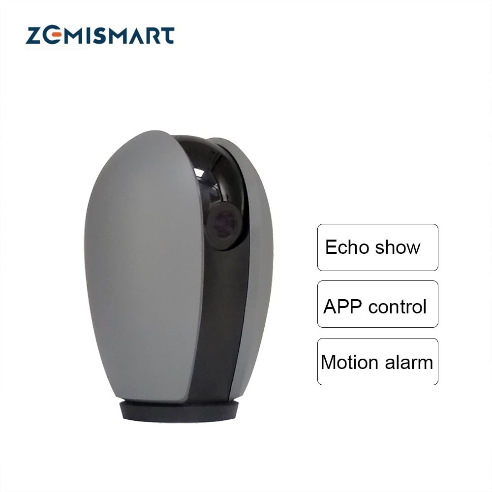 Zemismart wifi Camera Work with Alexa Echo Show APP Control 1080P Support Two-way Audio SD Card Night View Motion Monitor