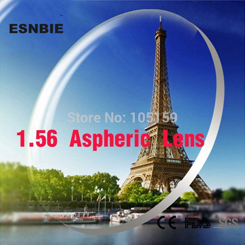 ESNBIE Personnalisé Lentilles pour Les Yeux 1.56 Indice Lentille Asphérique CR39 Prescription Verre Personnalisé Myopie Hypermétropie Lentilles