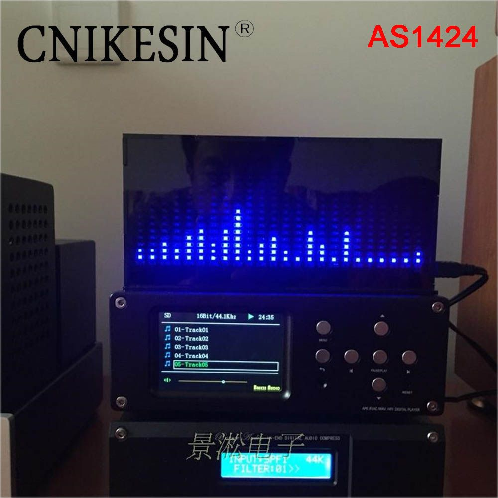 CNIKESIN diy kit AS1424 professional music spectrum display LED level indicator electronic production kit MIC microphone sense
