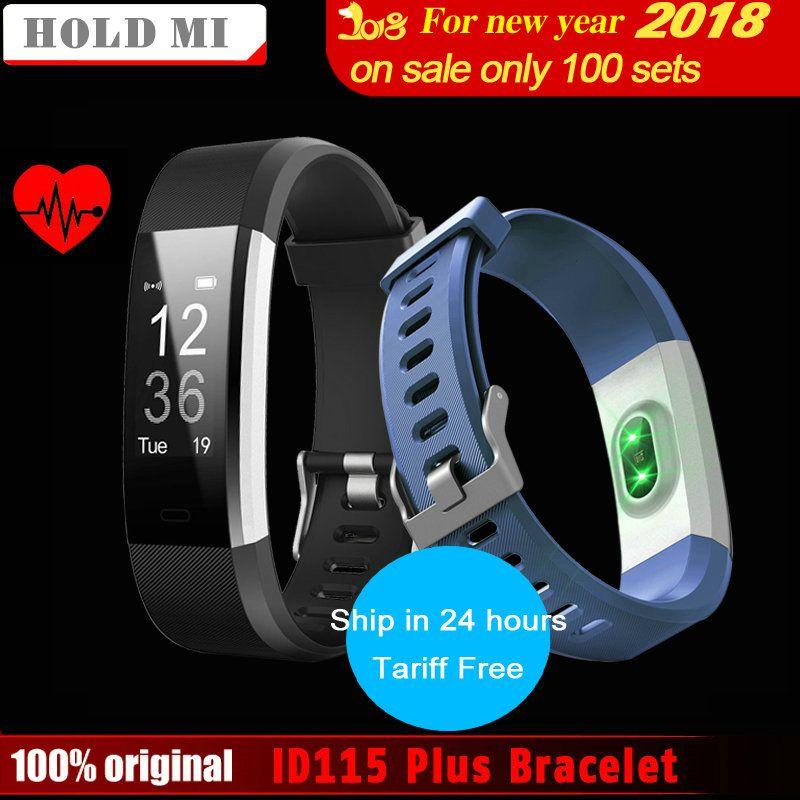 Hold Mi ID115 HR Plus Smart band Bracelet 0.96 inch OLED Screen Heart Rate Monitor Pedometer Fitness tracker Smartband Wristband