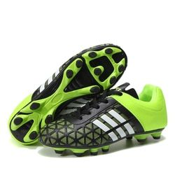 Men Football Soccer Boots Athletic Soccer Shoes 2019 New Leather Big Size High Top Soccer Cleats Training Football Sneaker Man