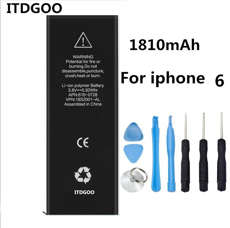 New Goods in stock Mobile phone battery For APPLE iphone 6S 4.7 1810mAh