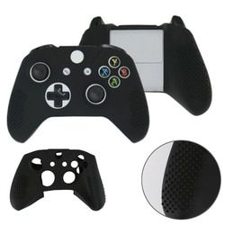 4 Colors  soft silicone Rubber Skin Protective Case Cover Dustproof Case for Microsoft Xbox One S Control L3FE