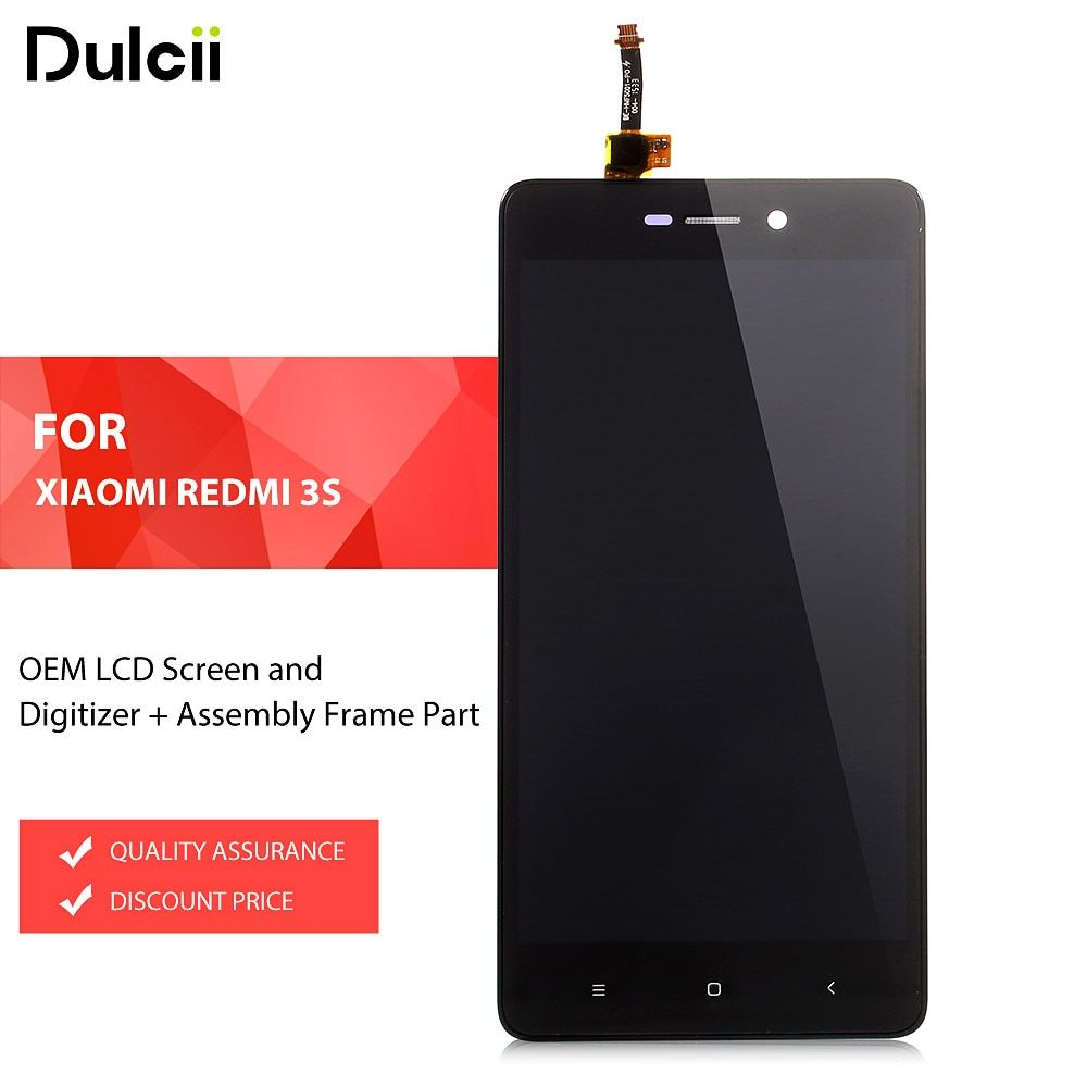 Dulcii For Xiaomi Redmi 3s OEM LCD Screen and Digitizer + Assembly Frame Part For Xiomi Redmi 3 s LCD Screen Black