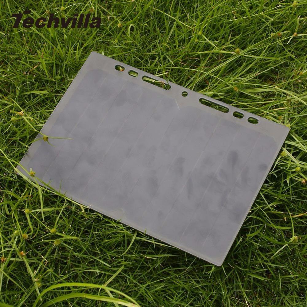 Techvilla techvilla 5V Solar Power Charging Panel Leaflet A5 Charger USB For Mobile Phone