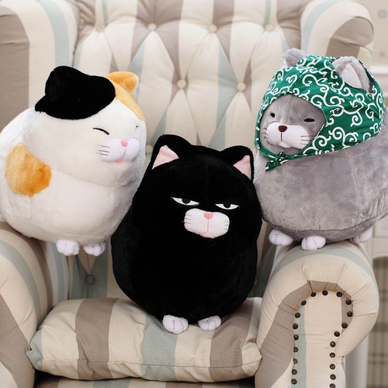1PCS 30CM/40CM cute kitty doll, <font><b>simulation</b></font> cat plush toys, creative cat plush toys, kids toy, free shipping!