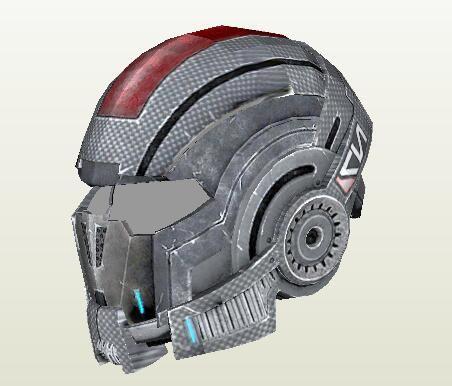 Mass Effect N7 Helm 1:1 Tragbare 3D Papier Modell DIY