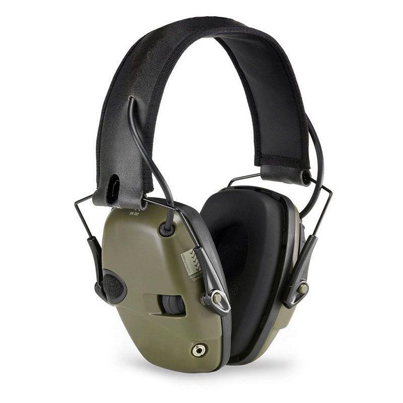 Ccgk тактический гарнитура Шум снижение шумоподавления электронный звук пикап на одной стороне коммутатора двухканальный Тактический пикап...