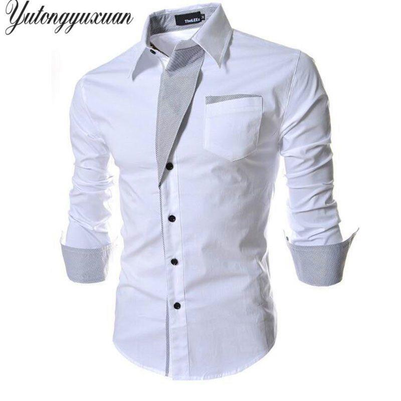 2017 Top Fashion Volle Feste Tuxedo Shirts Top Verkauf Mens Stilvolle Freizeithemd Frühling Männer Long Sleeve Slim Fit Male Hochzeit Tops