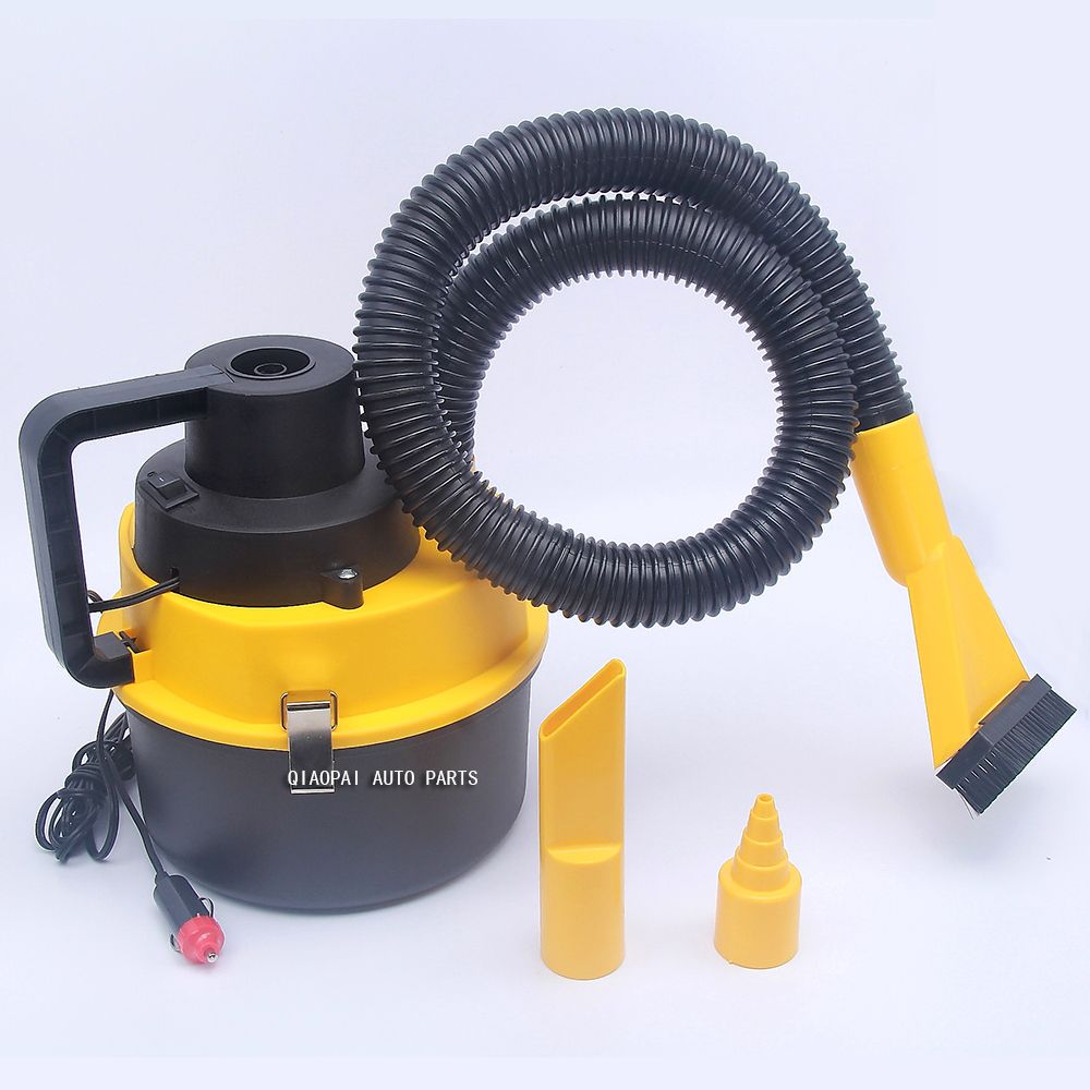 High Power 90W 12V Vehicle Mounted Vacuum Cleaner Auto Car Vacuum Cleaner Dry Wet Dual Purpose Portable Vacuum Cleaner ABS