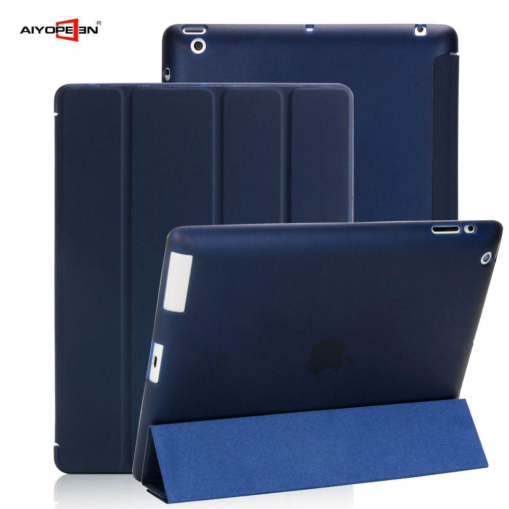 Cas Pour Apple iPad 2/3/4 aiyopeen Ultra Mince PU couvercle rabattable en cuir Souple TPU Arrière Magentic Smart étui pour iPad 2 3 4 A1430 A1460