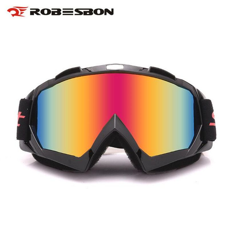 ROBESBON Winter Outdoor Sport Skiing Motorcycle Goggles Eyewear Motocross Off-Road DH ATV Skate Racing Glasses Multicolour Len