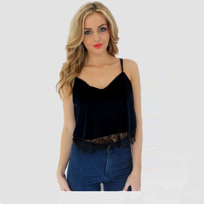 2018 New Fashion Lace Camisoles For Women Tank Top Sling Plus Size Black Camisoles Ladies Tanks s-xl Bottoming Vest Tanks