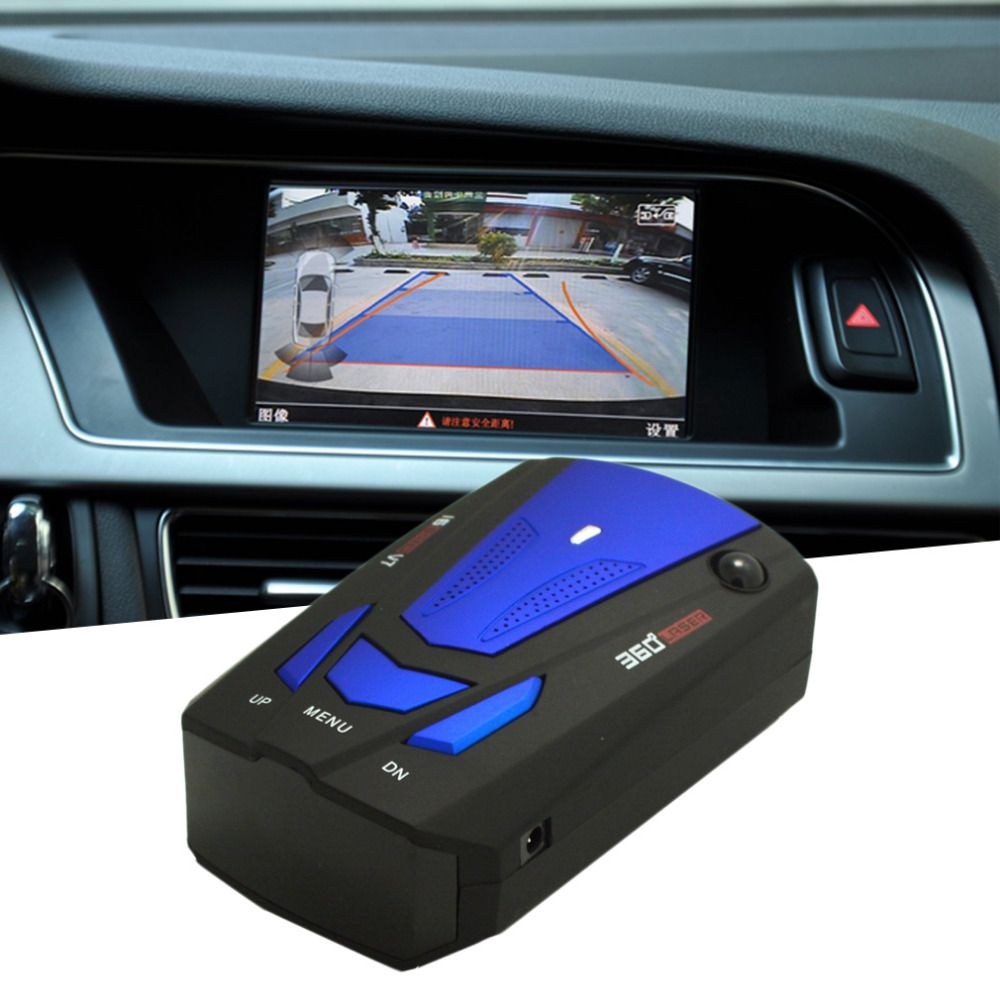 New Blue/Red 360 Degrees Car Radar Detector 16 Band Voice Alert Laser V7 Security Speed Radar Detector Laser LED Display Hot
