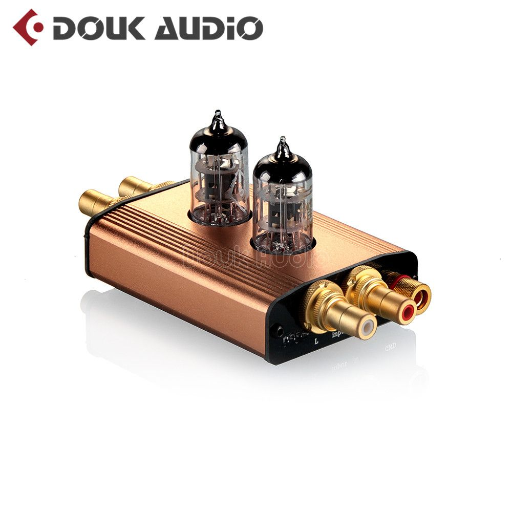 Douk audio High-End Mini Gold Vacuum Tube MM Phono Turntable Preamplifier HiFi Preamp Free Shipping