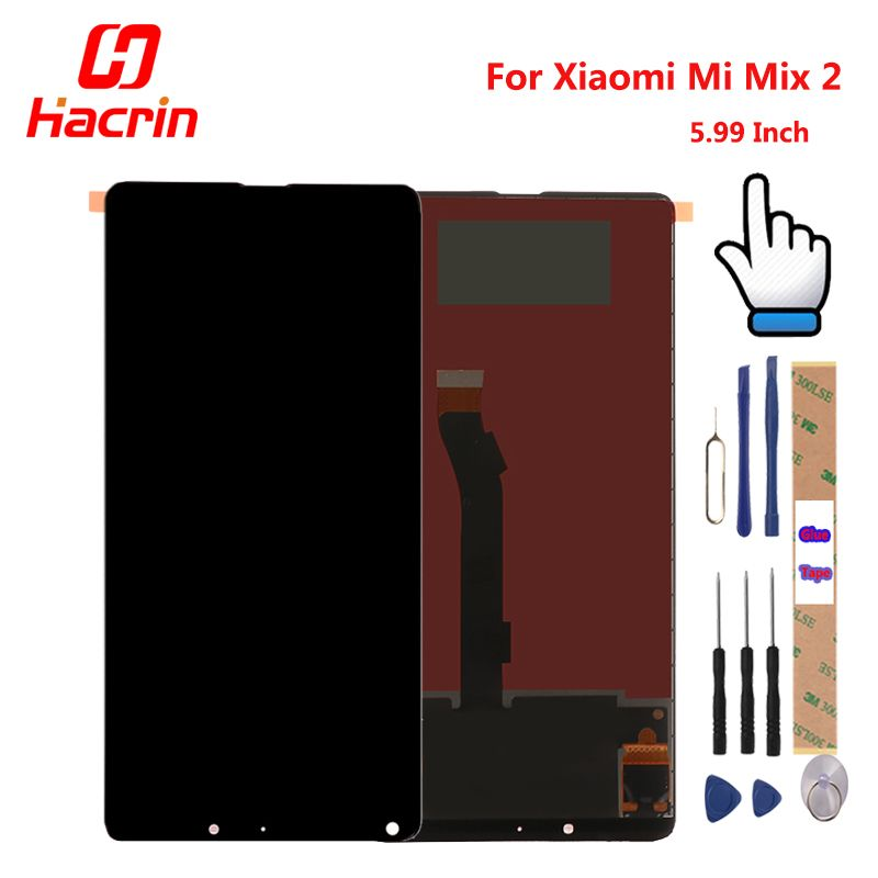 Xiaomi Mi Mix 2 LCD Display + Touch Screen 5.99 inches Tested New Digitizer Assembly Replacement For Xiaomi Mi Mix 2