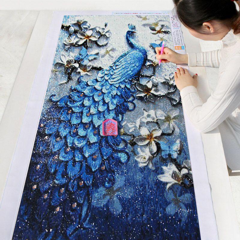 Meian,DIY Diamond Painting,<font><b>Special</b></font> Daimond accessories,Diamond Embroidery,Animal,Peacock,Full,Rhinestone,5D Diamond Mosaic,Decor
