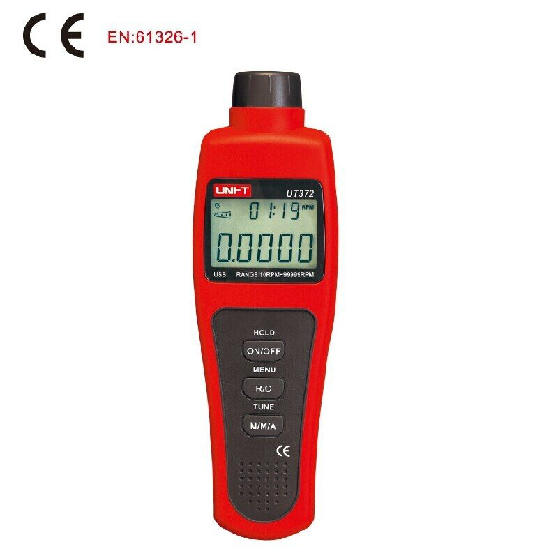 UNI-T UT372 Non-Contact Digital Tachometers LCD Display Digital USB Interface Range 10RPM-99999RPM