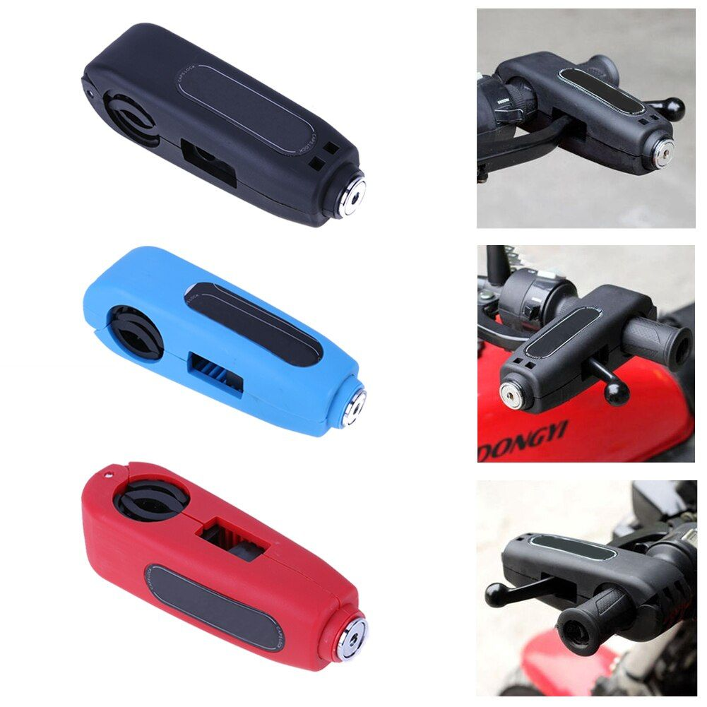 VODOOL Motorcycle Scooter Handlebar Safety Lock Brake Throttle Grip Security Lock Anti Theft Protection Security Lock