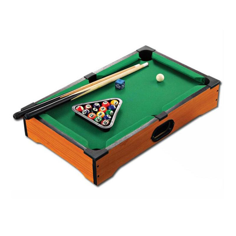2017 New Children's Billiard Table Wooden Toys mini billiard table with cues triangle and mini pool ball Kids Gift