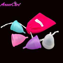 100% Médicos grado aneercare copa menstrual de silicona medica higiene femenina