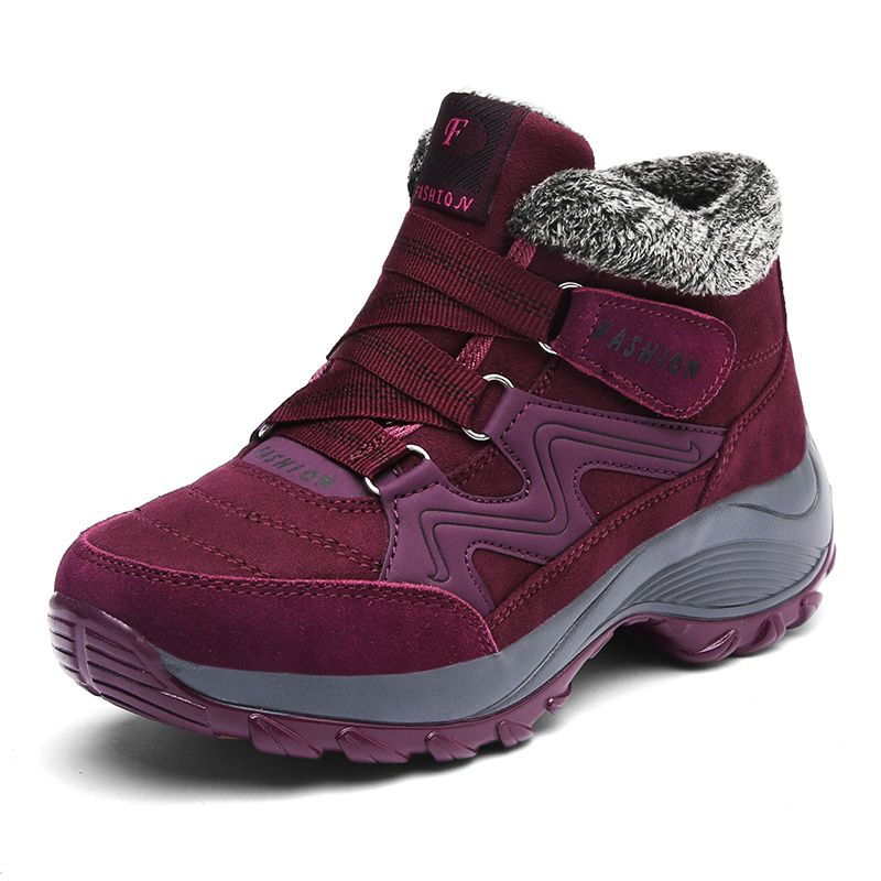 Women Snow Boots Winter Shoes Warm Plush Krasovki Ankle Boots 2017 Brand Female Shoes Wedge Snow Boots Waterproof