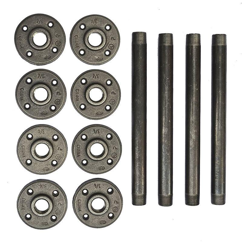 4 pièces 10 pouces pieds de meubles industriels en métal épingle à cheveux jambes en métal parfait pour Table basse, Table d'appoint, banc, étagère Z55-25