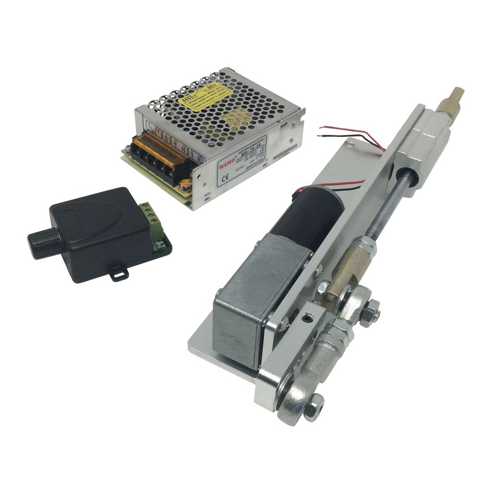DIY Design DC 12V Linear Actuator Reciprocating Motor Stroke 30/50/70mm+Switching Power Supply 110V-240V PWM Speed Controller