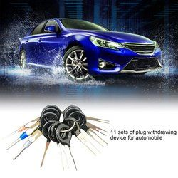 11pcs/set Auto Car Plug Terminal Extraction Pick Back Needle Wire Harness Connector Crimp Pin Repair Tool Set Drop Shipping