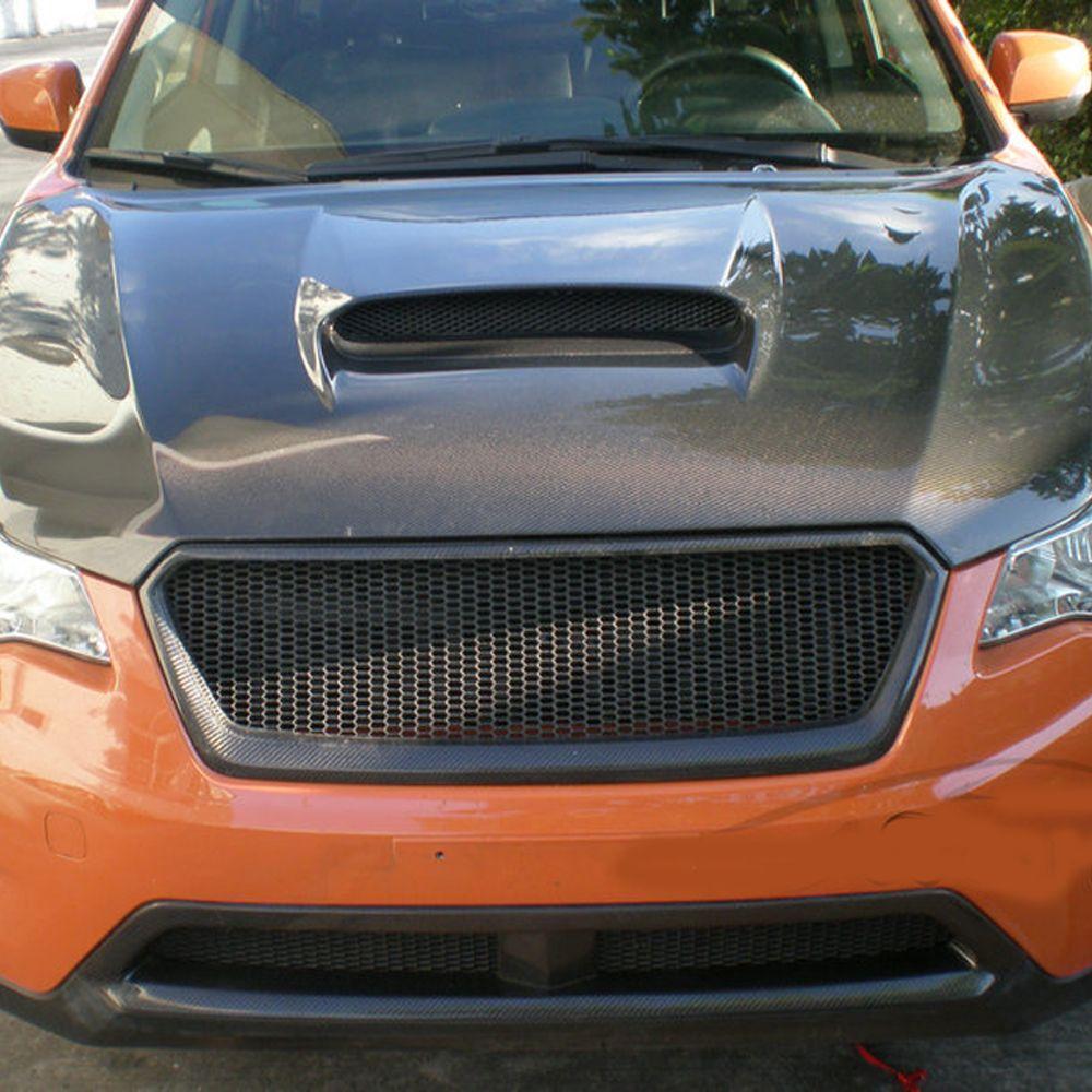 XV Carbon Fiber front Body Kit Auto Bumper Mesh Grill Grille for Subaru XV 2011-2014 Not Logo