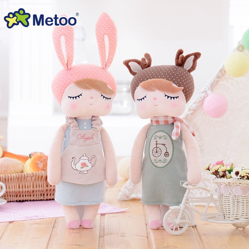 Retro <font><b>Angela</b></font> Rabbit Plush Stuffed Animal Kids Toys for Girls Children Birthday Christmas Gift 13 Inch Accompany Sleep Metoo Doll