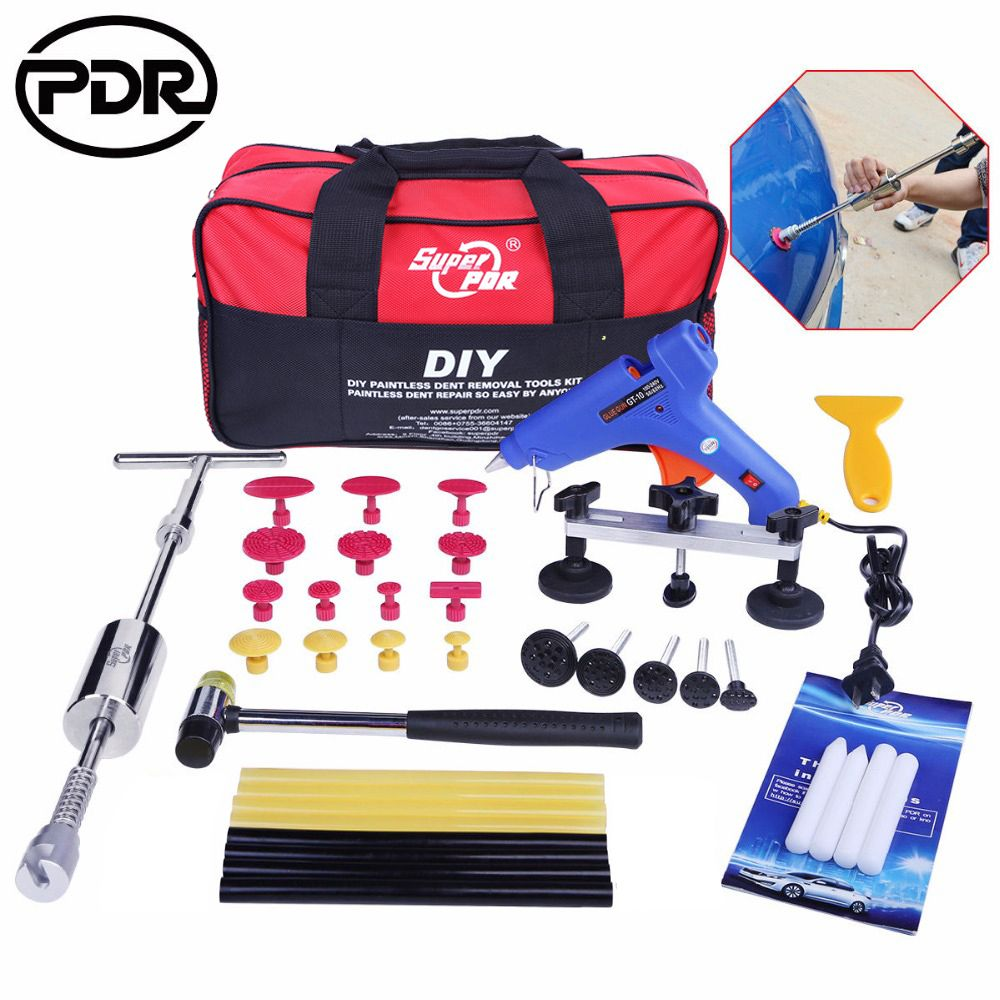 PDR Tools Dent Puller Kit Tool To Remove Dents Auto Repair Tool Car Body Repair Kit Dent Removal Slide Hammer Pulling Bridge