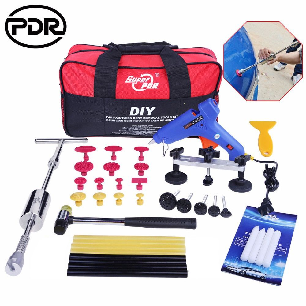 PDR Tools Dent Puller Kit Tool To Remove Dents Auto Repair Tool Car Body Repair Kit Dent Removal Slide Hammer Pulling Bridge