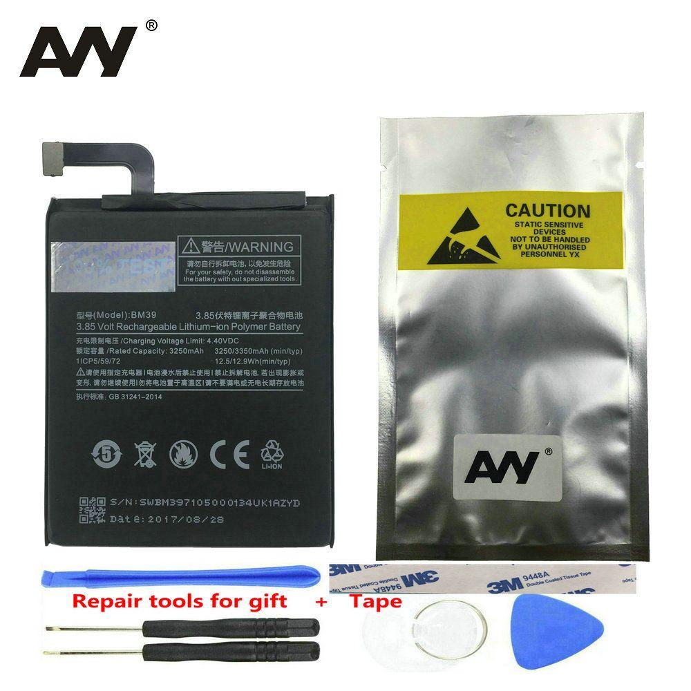 AVY Batterie BM39 Für Xiao mi mi 6 mi 6 Handy Ersatz Li-Ion Batterien Wiederaufladbare Bateria 3250 mAh 3350 mAh 100% Test