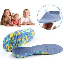1 Pair Flat Kaki Penopang Lengkungan Orthotic Bantalan Koreksi Sol Anak EVA Sol Ortopedi untuk Sepatu