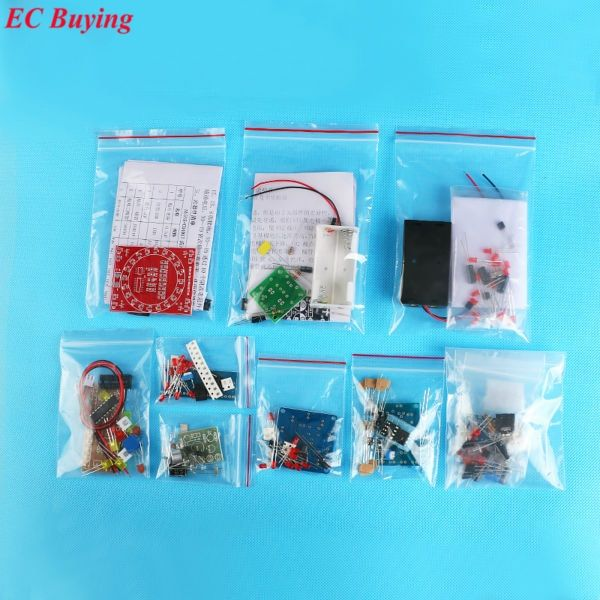 <font><b>Electronic</b></font> DIY Kit SMD SMT Components Welding Practice Board Soldering Skill Training Beginner <font><b>Electronic</b></font> Kit for Self-Assembly