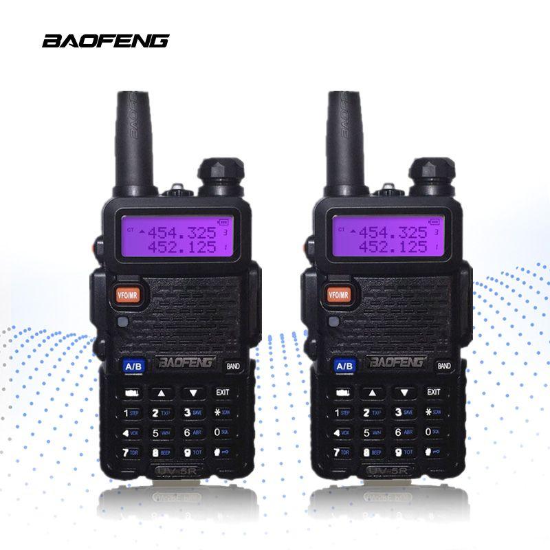 2-PCS BaoFeng UV-5R Walkie Talkie 10km Portable Radio CB Radio UV5R Baofeng UV 5R Talkie Walkie Handheld Hunting Radio Transceiv