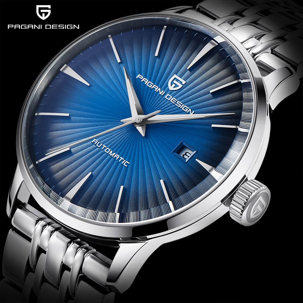 PAGANI DESIGN männer Mode Lässig Mechanische Uhren Wasserdicht 30 M Edelstahl Marke Luxus Automatische Business Uhr saat
