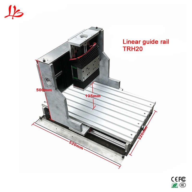Präzision CNC 3040 rahmen linearführungsschiene TRH20 80mm spindel clamp für DIY Gravur Bohren Fräsen Maschine