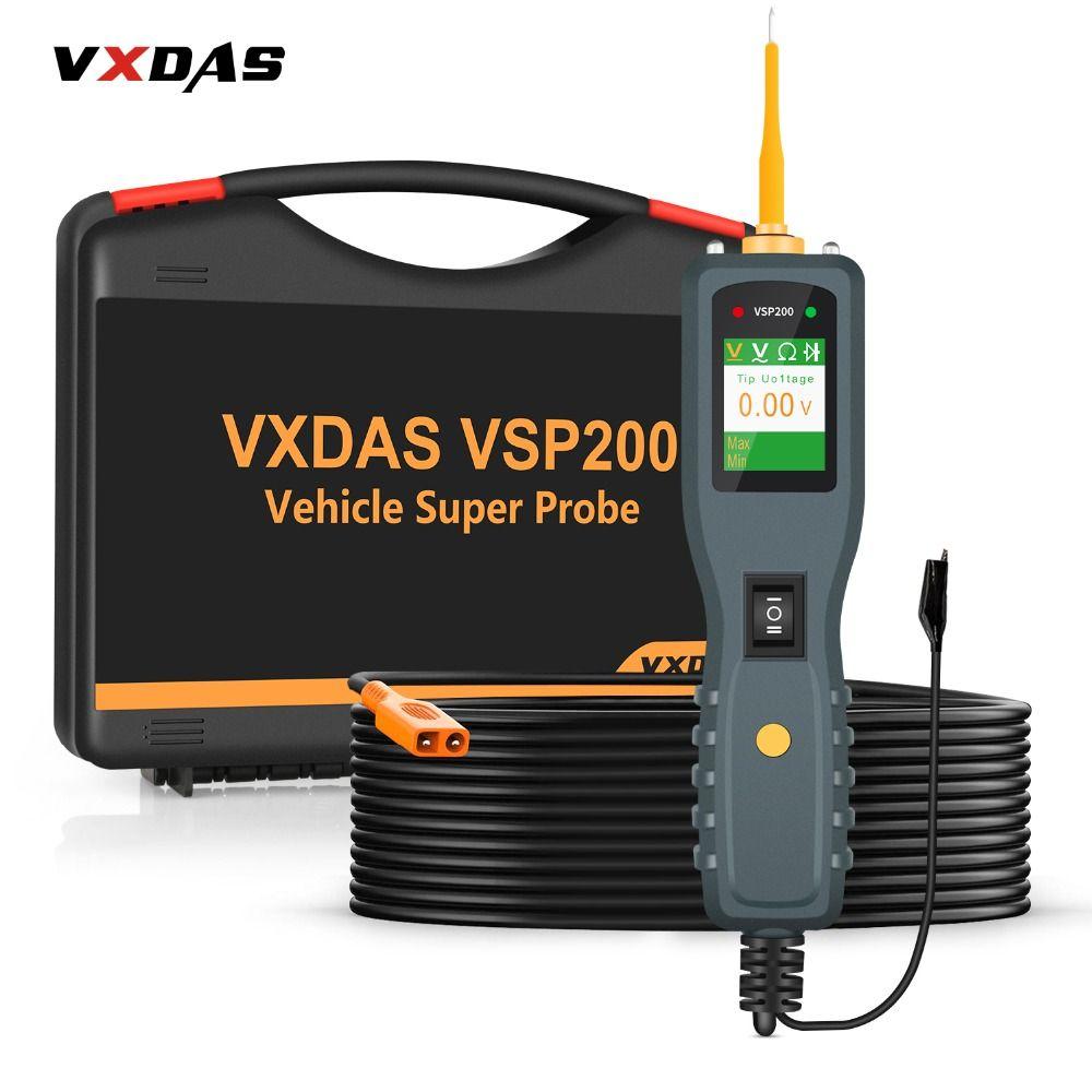VXDAS VSP200 OBD2 Auto Circuit Diagnostic Tools 12V-24V Truck Battery Tester Power Tools AUTEK YD208 Vehicle Super Probe Kit