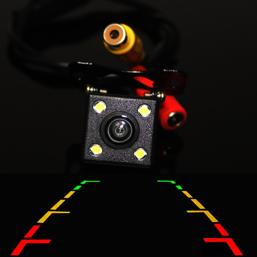Backup Parking Universal Car Rear View Camera HD CCD Waterproof 4 LED Night Vision Wide View Angle  Parktronik Auto Styling