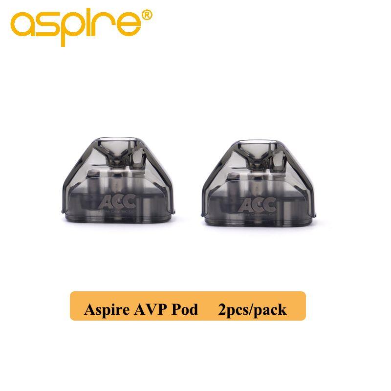 2 pcs/paquet Aspire AVP Pod 2ml capacité Vape cartouche avec 1.2ohm coton/1.3ohm bobine en céramique atomiseur de Cigarette électronique